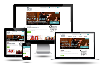 Portland Web Design Oregon Repertory Singers Responsive Website Design