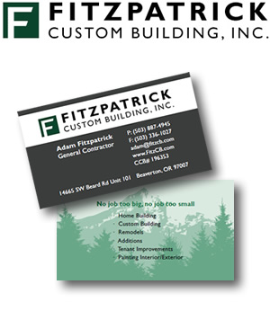 Fitzpatrick Custom Building Logo and Business Card