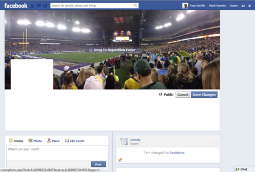 Facebook Account Setup Cover Photo