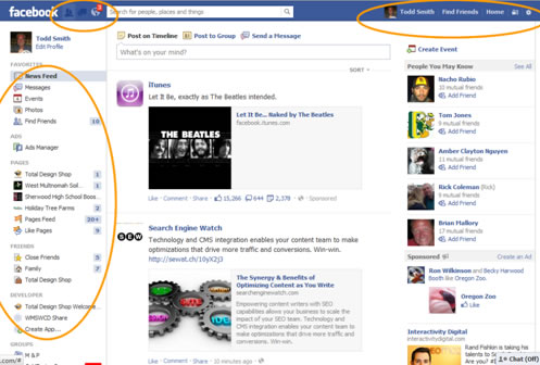 Facebook Account Setup News Feed Navigation