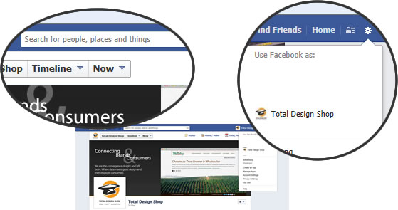Facebook Business Page Use As