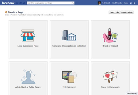 Facebook Business Page Category