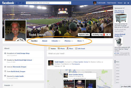Facebook Account Setup Timeline Navigation