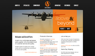 Aviation Web Design for Aviatrix