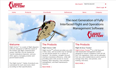 Aviation Web Design for Flight Vector