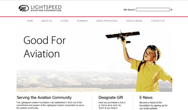 Aviation Web Design for Lightspeed Aviation Foundation