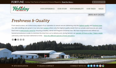 Website Redesign for Holiday Tree Farms in Corvallis, Oregon