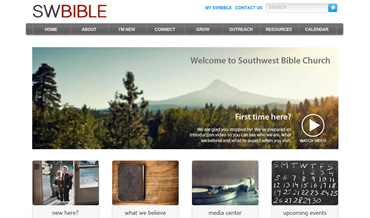 Website Redesign for Southwest Bible Church in Beaverton, Oregon