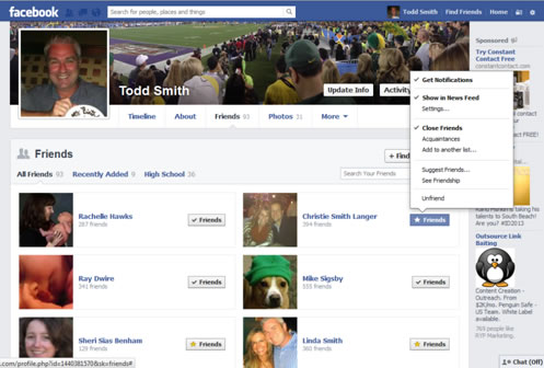 Facebook Account Setup Friends