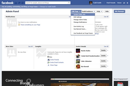Facebook Business Page Edit Information