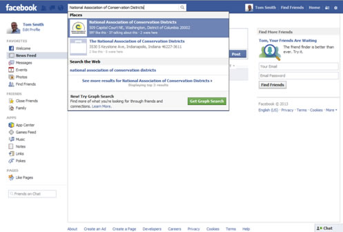 Facebook Account Setup Search